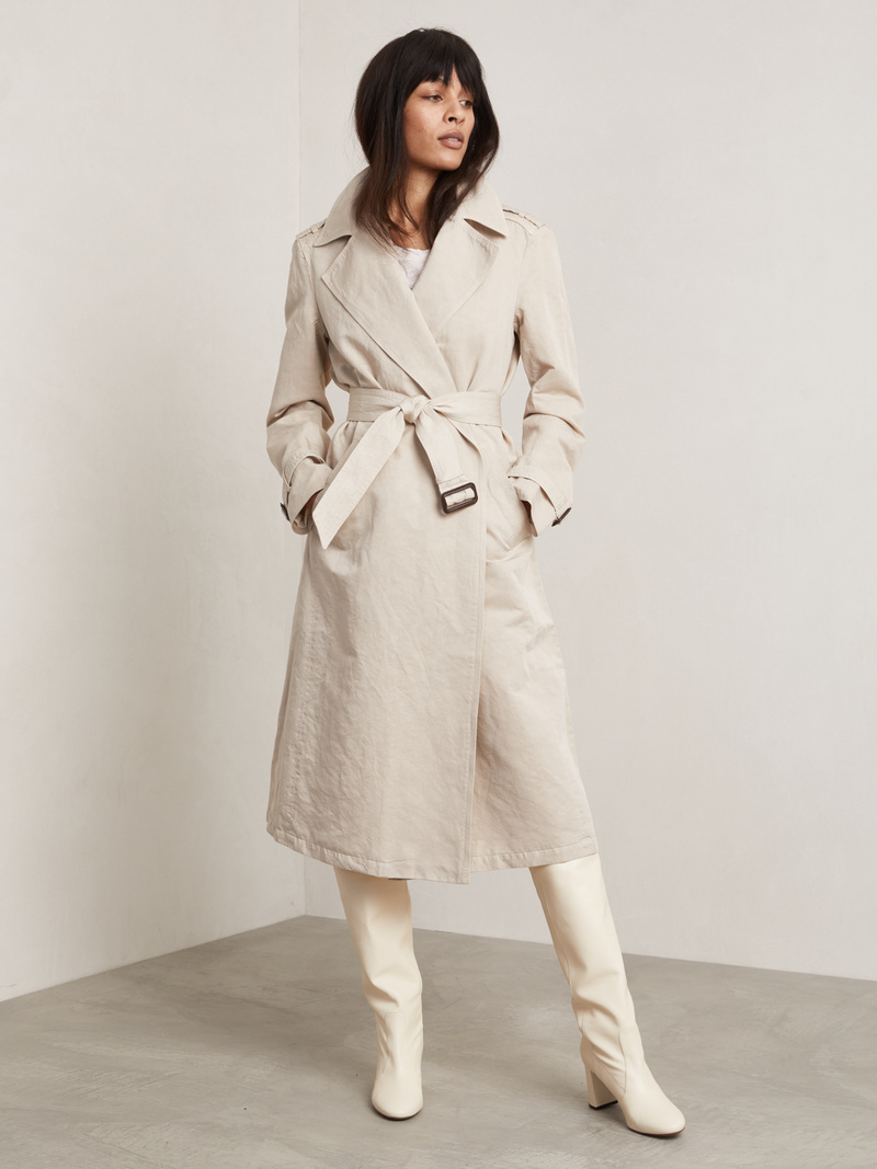 Costello Linen Trench Coat