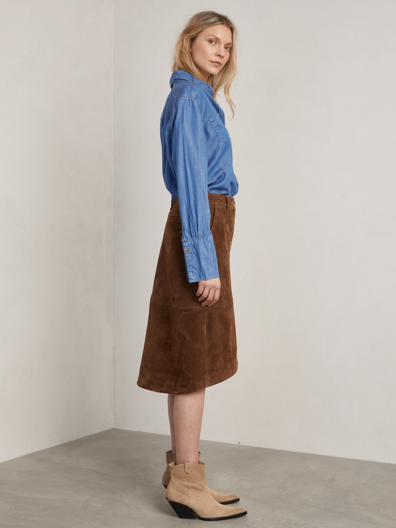 Jade Suede Skirt