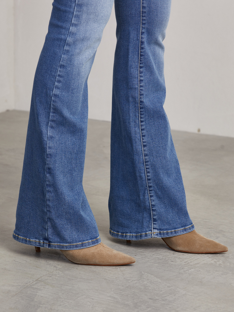 Matt Flared Denim