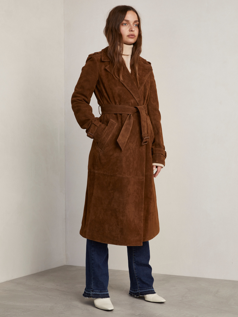 Costello Suede Coat
